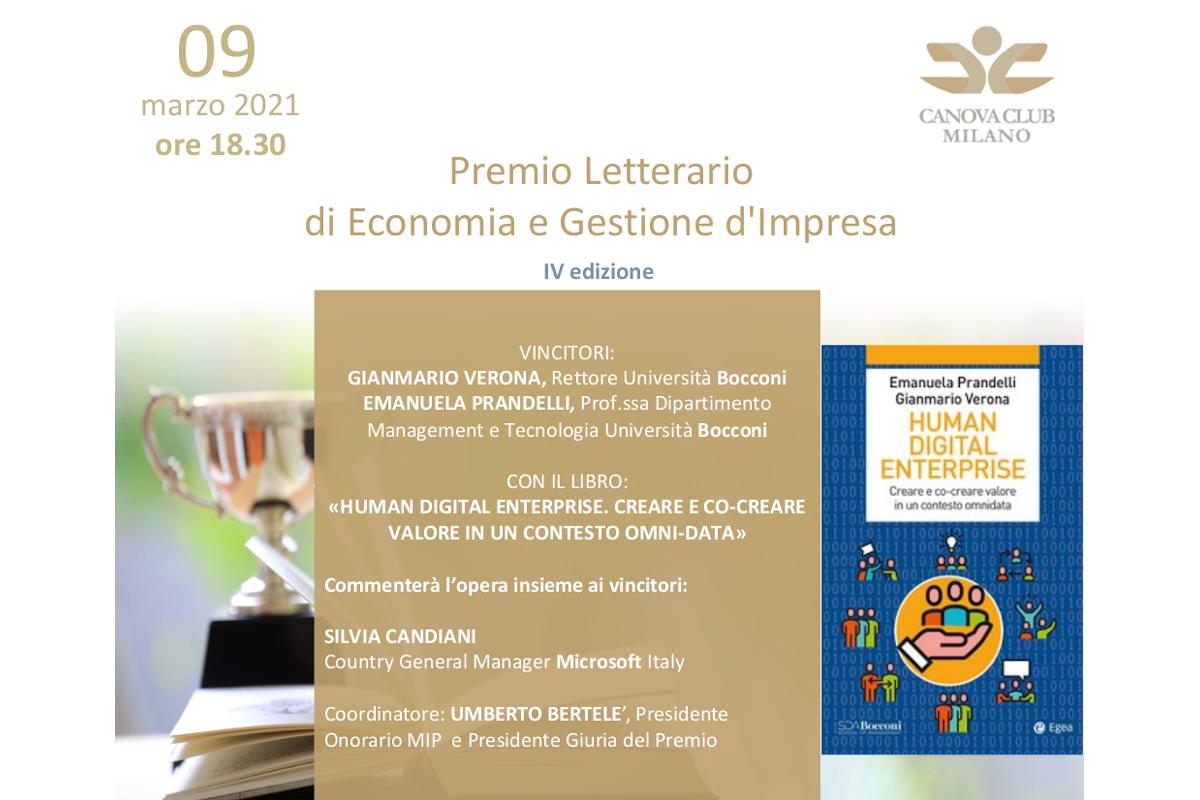 Premio Letterario di Economia e Gestione d'Impresa - IV edizione